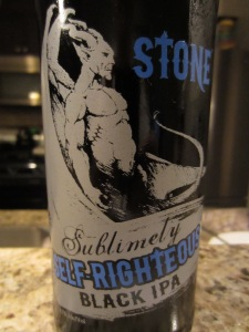 Stone: Sublimely Self-Righteous Black IPA